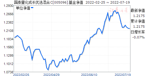 国泰量化成长优选混合C(005096)净值走势