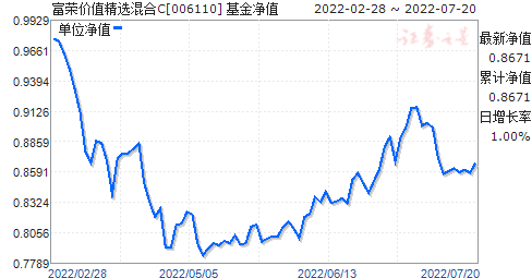 富荣价值精选混合C(006110)净值走势