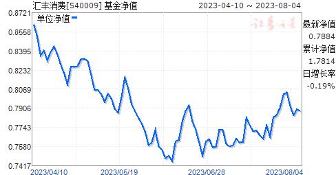 汇丰消费(540009)净值走势
